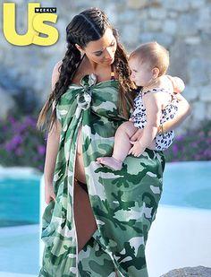 Kim Kardashians Pregnant Bikini Body Pictures From Family Vacation in Greece: Aunt Kim