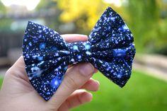 galaxy hair bow. ♡