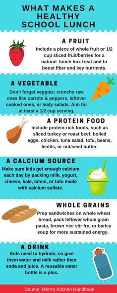 What Makes a Healthy School Lunch plus 10 healthy lunch ideas. A printable guide.