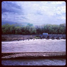 View from the Atlas Coffee Mill - Fox River Dam No. 1 - Appleton, WI