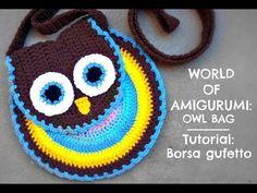 Tutorial: Borsa gufetto all'uncinetto   How to crochet a owl bag - YouTube