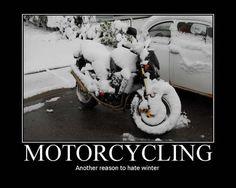 Motorcycling-yep I drove thru a snowstorm on my 550 Yamaha!