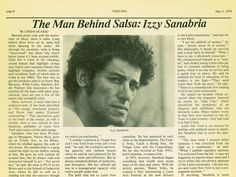 Image result for Izzy Sanabria's Salsa Magazine Amherst College, Latin Music, Primary Education, Music Stuff, Golden Age, Punk Rock, The Man, Rock And Roll