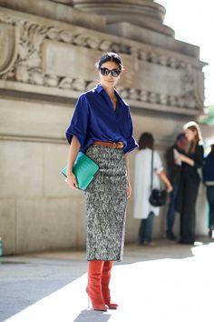 ELLE's PFW S/S 2015 Street Style | Fashion, Trends, Beauty Tips & Celebrity Style Magazine | ELLE UK