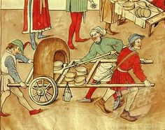 recipes breads Five Fun Facts about Medieval Fast Food Medieval Market, Medieval Life, Medieval Fantasy, Medieval Castle, Medieval Recipes, Medieval Crafts, Ancient Recipes, Medieval Manuscript, Illuminated Manuscript