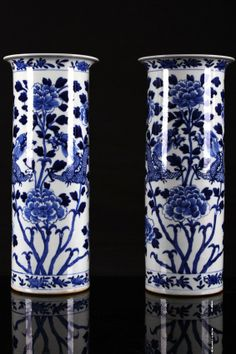 "AFTER 19TH CENTURY KANGXI NIANZHI MARKED BLUE AND WHITE PORCELAIN VASE PAINTED WITH TWO DRAGONS PLAY AROUND WITH FLOWERS W:5.5"" H:13.5"""