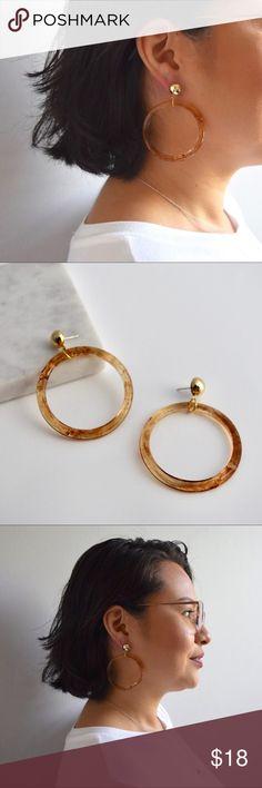 f845abd1b Tortoise Acrylic Hoop Earrings Tortoise acrylic hoop earrings. Light  weight. Lead and nickel compliant