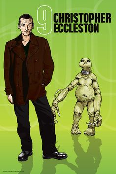 Doctor Who  Christopher Eccleston and Slitheen  18 x by DadManCult, $12.99