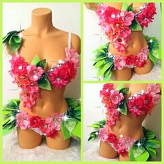 Reserved for Estefani Pink Fairy with Leaf Skirt by TheLoveShackk