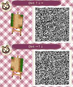 acnl dirt path SET#3- left and right side intersection