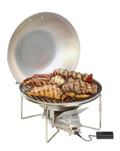 VitalGrill Camping Wood BBQ - $171 -The VitalGrill Camping BBQ is collapsible, lightweight and compact, making it easy to carry and cook gour...