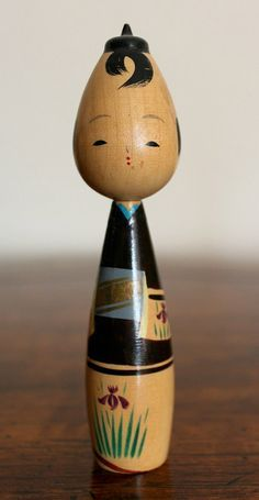 Vintage Japanese Male Kokeshi Doll  -------- #japan #japanese #kokeshi