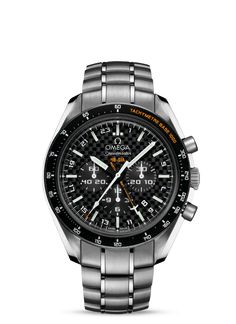 The Omega Speedmaster HB-SIA Co-Axial GMT Chronograph Numbered Edition is a part of the Solar Impulse project. Omega represents their support of the solar power proj Omega Railmaster, Omega Planet Ocean, Seamaster 300, Moon Watch, Speedmaster Professional, Expensive Watches, Cool Watches, Men's Watches, Omega Speedmaster