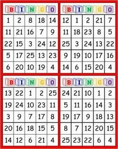 This is a FREE file for a BINGO game for students to use to practice number identification for numbers 1 - You will find 24 different black and white BINGO boards along with calling cards. Joy of Teaching Math Bingo, Math Card Games, Fun Math, Math Activities, Bingo Games, Math Classroom, Kindergarten Math, Teaching Math, Classroom Decor