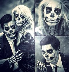 Halloween makeup. Luv It! Want to do it.