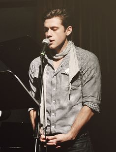 Aaron Tveit, adore this photo of him. I love seeing actors just being themselves!