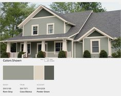 top modern bungalow design cape cod color schemeshome colorsgreen houseshome - Exterior House Paint Colors