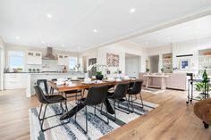 We love how the kitchen and dining rooms in this Kerikeri home are framed using HardieGroove Lining by James Hardie Dining Rooms, Kitchen Dining, James Hardie, Flat Sheets, Interior Inspiration, Interiors, Wall, Furniture, Home Decor