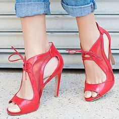 Super classy Red Heels by Nine West