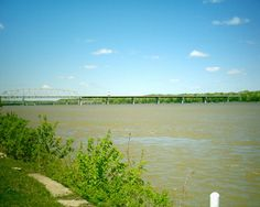 The Mississippi River at Hannibal, MO, Mark Twain's boyhood home and the setting for Tom Sawyer's adventures. / Make TOM SAWYER real for kids in straight-from-the-story ways. Hands-on, multisensory activities, academic handouts, and lots more -- all in one place! Get the LitWits Kit at  https://litwits.com/product/tom-sawyer/