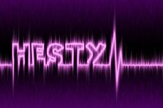 Electronic text effect.