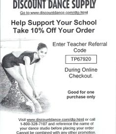 All About Attitude Dancewear - Discount Dance Supply 10% Off coupon code.