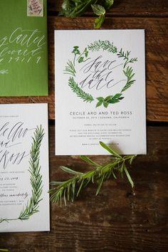Herb Inspired Wedding Invitations-4