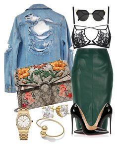 """""""Too Much Sauce"""" by styledbytammy on Polyvore featuring High Heels Suicide, Gucci, River Island, Audemars Piguet, Agent Provocateur, David Yurman, Christian Louboutin and Fendi"""