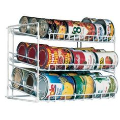 Organization tip: Store cans neatly in your kitchen cabinets with a can rack