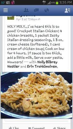 Creamy Italian Chicken - Crock pot recipe #crock #pot #recipes