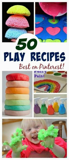 50 MUST TRY PLAY RECIPES- I am on Pinterest all the time, and these are the best I've seen!