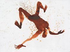 Antony Gormley | CONCEPT, 2001, Water-dispersed aniline dye on paper, 28 x 38 cm