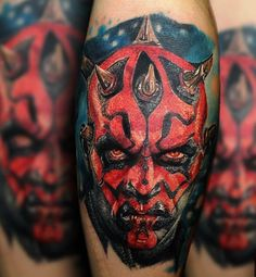 Darth Maul tattoo by Max Limited Availability @ Revelation Tattoo Studios Northampton. Star Wars Tattoo, Star Tattoos, Body Art Tattoos, Sleeve Tattoos, Cool Tattoos, Creative Tattoos, Star Wars Quotes, Star Wars Humor, Darth Maul Tattoo