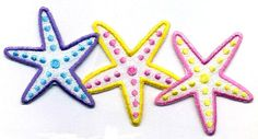 """Starfish - Seashells - Beach - Summer - Iron On Applique Patch - 4 5/8"""" WIDE #Unbranded"""