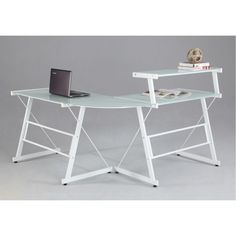 L-Shape Office Desk by Chintaly Imports