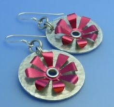 How to Make Riveted Recycled Soda Can Earrings