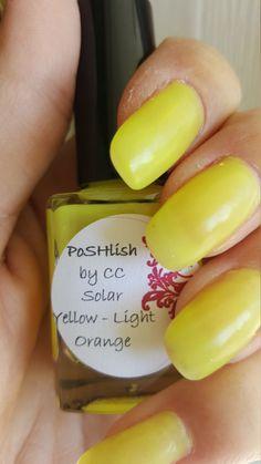 Unique Solar Color Changing Yellow - Light Orange Nail Polish Full Size 15ml Bottle by PoSHlish on Etsy