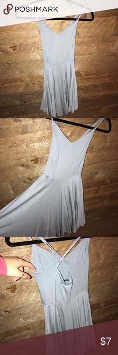 Cute grey/mint dress! It's fitted up top but flowy below. Hard to capture the cool color but I tried my best in the last pic! Worn once! Forever 21 Dresses Mini