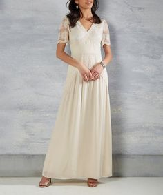 Loving this Ivory Right Here & Vow Maxi Dress on #zulily! #zulilyfinds