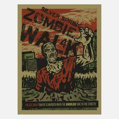 Zombie Walk 2011 now featured on Fab. [Art Print, Silver Spring, Maryland, Jeffrey Everett, EL JEFE DESIGN]