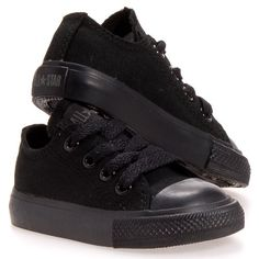 Converse Chuck Taylor All Star Lo Top Black Monochrome Toddlers 714786F Infants 6