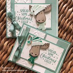 Today, I shared this card at the Crop for a Cure. It was great to be the SU! Rep and many made the card. They all fell in love with the moose from the jolly friends stamp set (#142511) The words come from the Tin of Tags stamp set (142180) that is currently 25% off until 11/30. www.bonniestamp.stampinup.net