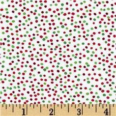 Timeless Treasures Mini Dots Holiday