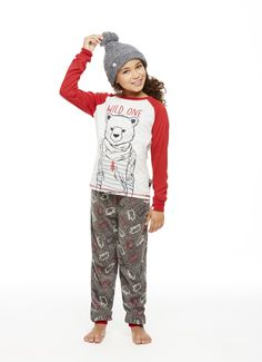 If you are bearly awake, you will want to stay inside and hibernate in these cabin friendly 2 piece sleep sets.These comfy sets include a free gift with purchase touque for added fun and instafamous photos! Winter 2017, Fall Winter, Matching Family Pajamas, Sleep Set, Girls Pajamas, First Girl, Wild Ones, Comfy, Seasons