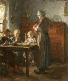 De broodmaaltijd Bernardus Johannes Blommers (1845-1914) - Kunsthandel Studio 2000 - https://studio2000.nl//bernardus-johannes-blommers/debroodmaaltijd/