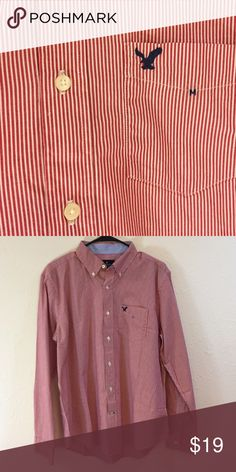 NEW American eagle classic fir button up Men's nice dress shirt never worn. American Eagle Outfitters Shirts Casual Button Down Shirts