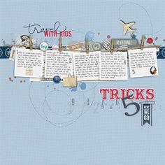 5 Tricks: travel with kids by sterkeurs @2peasinabucket / All supplies are Designer Digitals!