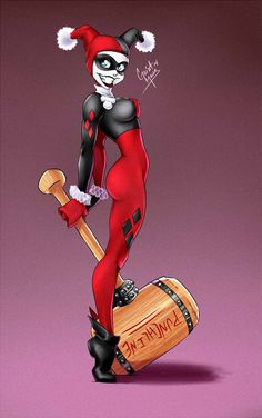 Harley Quinn by GeistMaus on DeviantArt Character © DC Comics Art © Geistmaus Showing some love to one of my favorite DC girls. Harley Quinn Tattoo, Harley Quinn Drawing, Harley Quinn Comic, Dc Comics Art, Comics Girls, Harley Quenn, Creation Art, Gotham Girls, Art Graphique