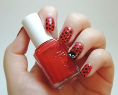 Essie Really Red - Ladybug - Dots