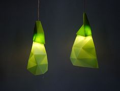 Low Poly Lamps, made with a laser cutter / 3d printer